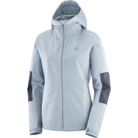 Salomon Outrack Waterproof Jacket Women ashley blue/ebony